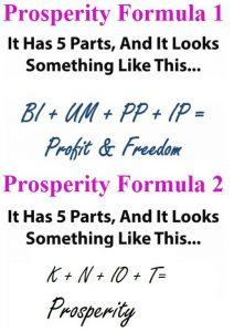 Two Prosperity Formulae